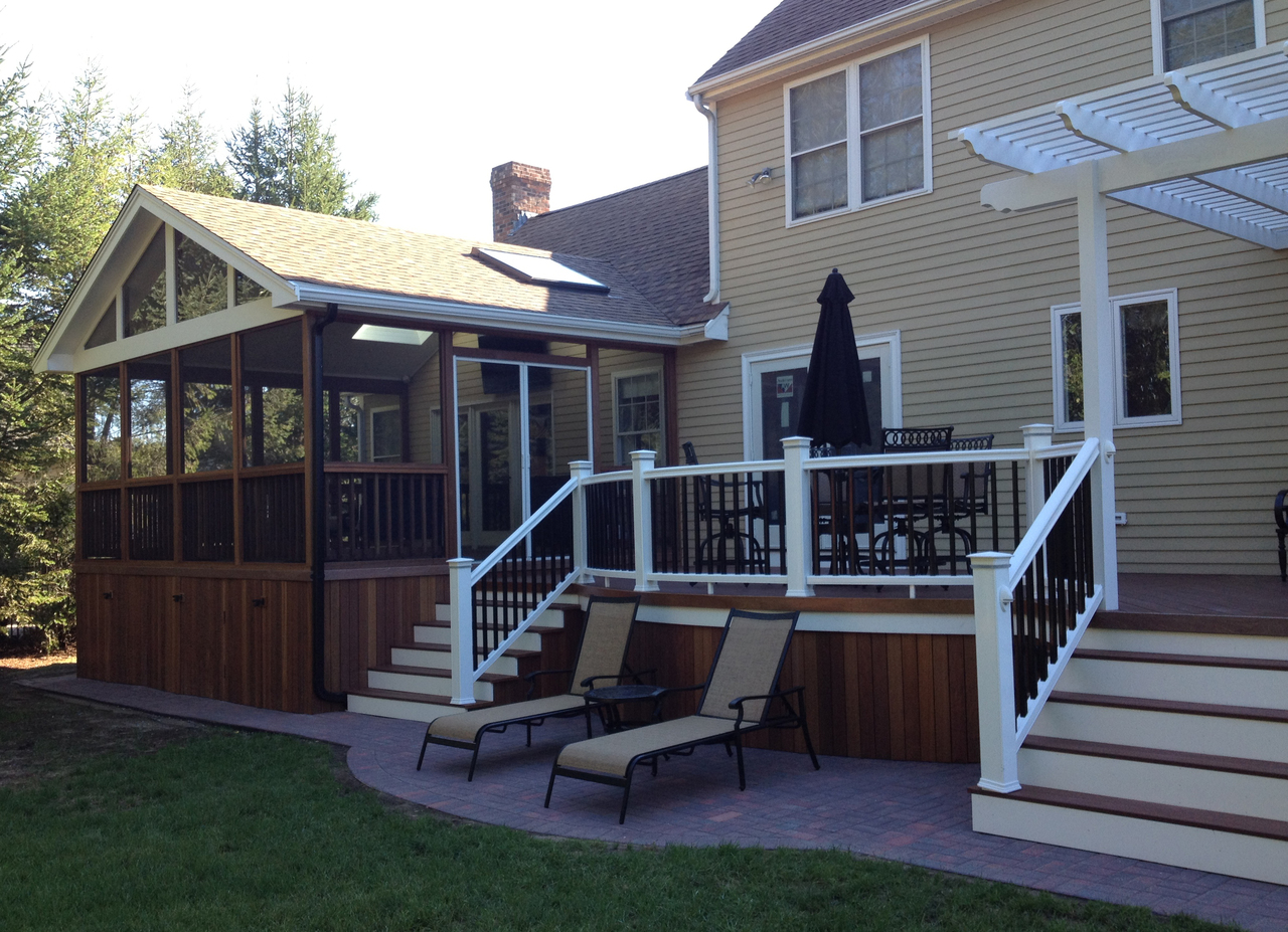 Screened in deck design ideas by archadeck st louis for Deck designer