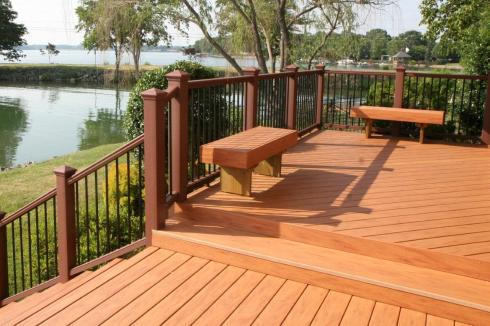TimberTech Deck in Pacific Rosewood from The Tropical Collection, Deck by Archadeck