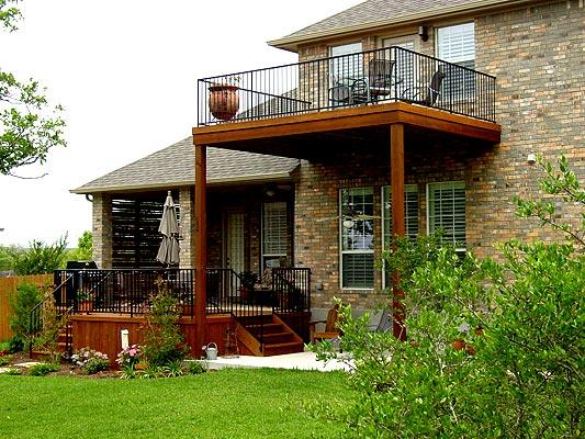 Two story deck design ideas by archadeck st louis decks for How to build a 2nd story floor