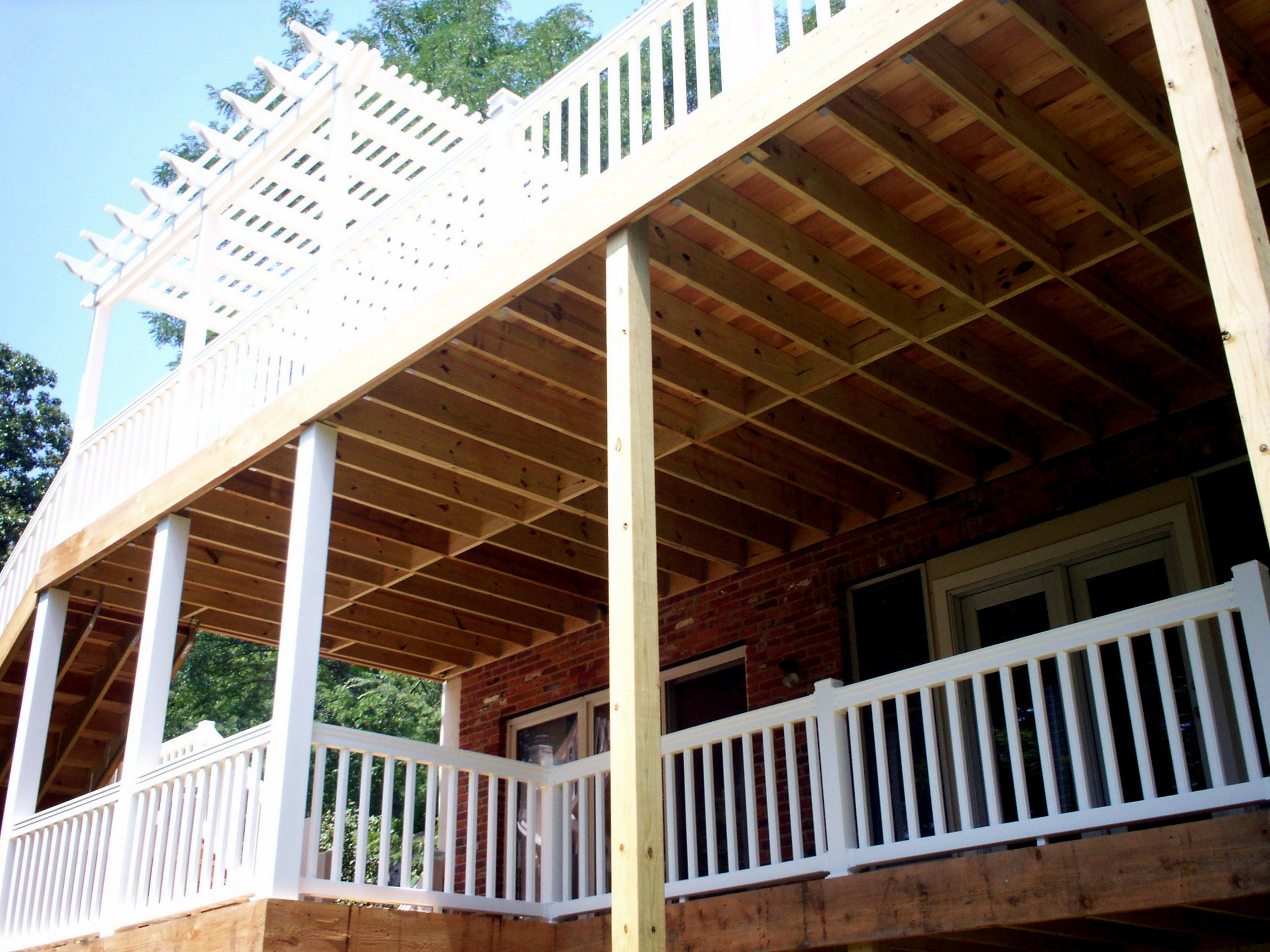 Two story deck design ideas by archadeck st louis decks for Two story deck design pictures