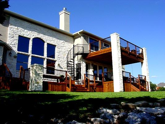 Two story deck design ideas by archadeck st louis decks for 2 story spiral staircase