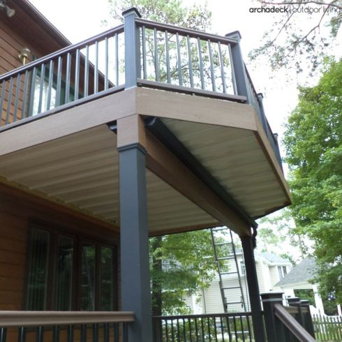 Two-Story Deck with Underdeck Ceiling by Archadeck