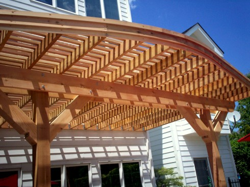 Curved Patio Pergola, Wildwood Mo by Archadeck in St. Louis