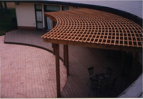 Curved Pergola by Archadeck
