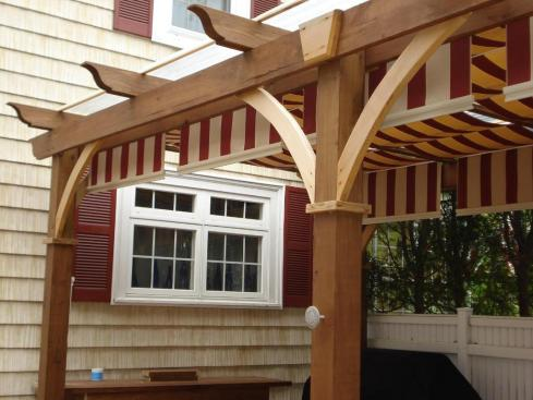 Pergola with Cloth Canopy by Archadeck