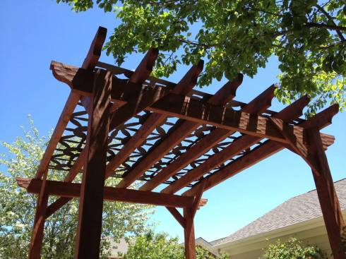 Pergola with Decorative Metal Panel by Archadeck