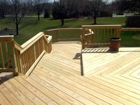 Standard Wood Deck by Archadeck