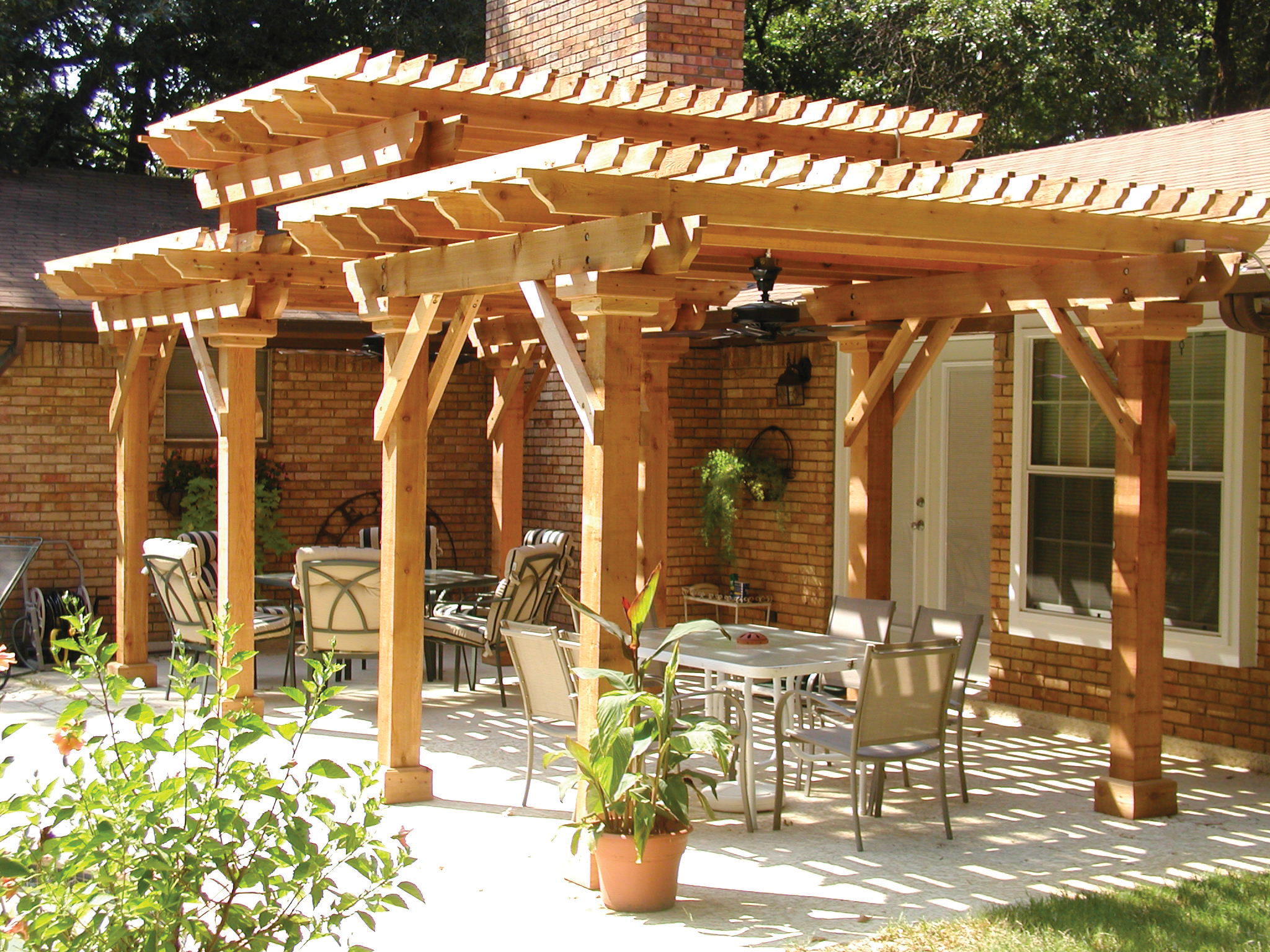 St louis pergolas your backyard is a blank canvas st for Different patio designs