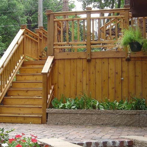 Wood Deck with Skirting by Archadeck