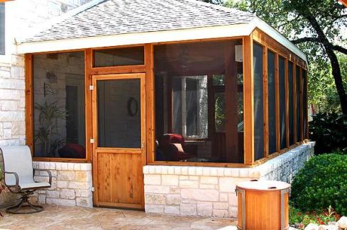 Attached Screen Porch with Concrete Floor, by Archadeck