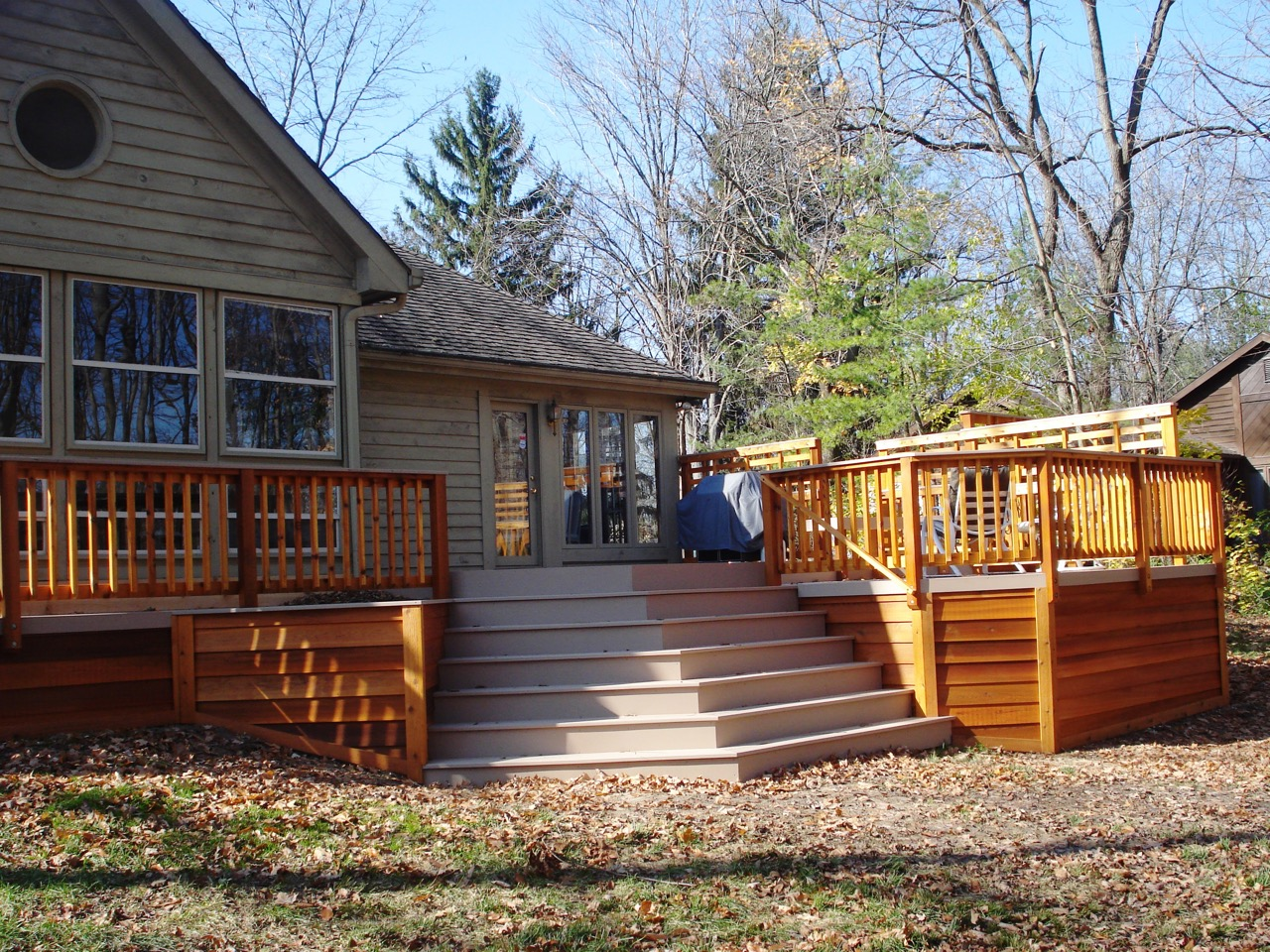 Bon Deck With Cascading Stair Design By Archadeck