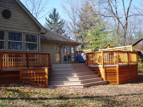 Deck With Cascading Stair Design by Archadeck