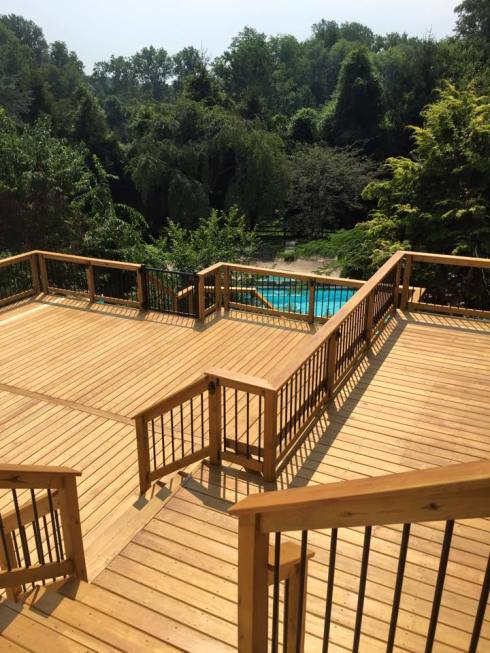 Large Deck With 3 Sets of Stairs by Archadeck