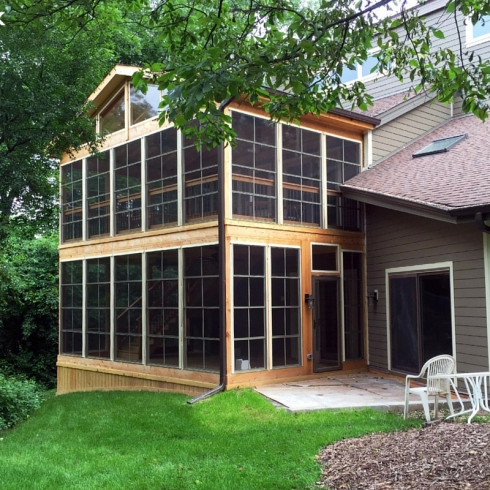 Large Two Story Screen Porch with Gable Roof by Archadeck
