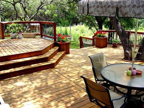 Multilevel Deck With Cascading Stairs, by Archadeck