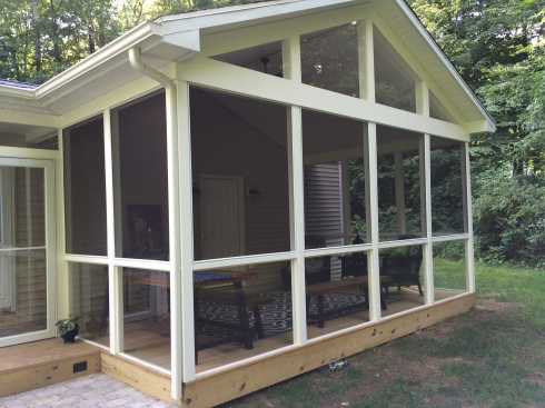 New Screen Porch Addition with Gable Roof by Archadeck