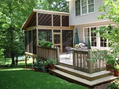 Screen Porch with Wood Decking Floor, by Archadeck