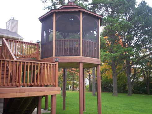 Screened In Gazebo on Second Story Deck by Archadeck, St. Louis Mo
