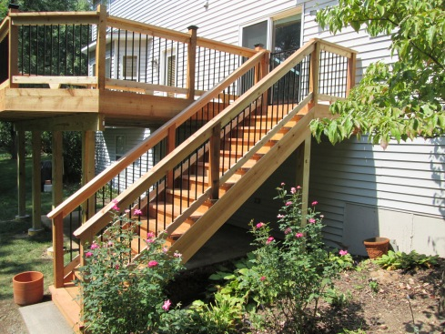 Straight Deck Staircase, Without A Landing, St. Louis Mo, by Archadeck