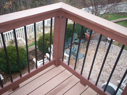 Contemporary Composite Deck Rails with Metal Balusters in St. Louis West County by Archadeck