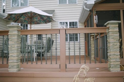 Custom Deck Rail Post Covers by Archadeck