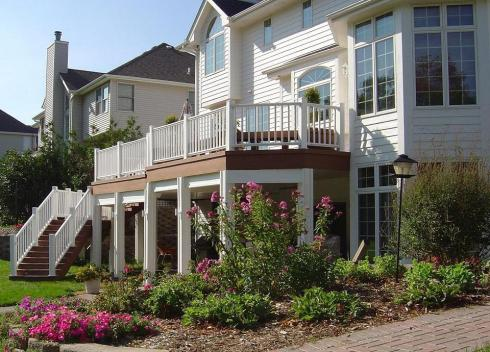 Deck and Rail Designed to Maxmize Curb Appeal and Safety, by Archadeck