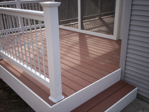 Deck and Screen Porch Rails with Post Caps and Basket Balusters, by Archadeck, St. Louis Mo