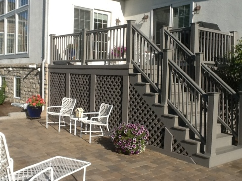 Deck and Stairs Designed With Lattice, Project by Archadeck