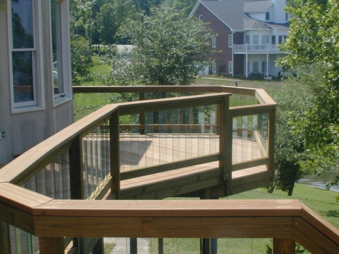Deck Rails with Glass Balusters by Archadeck