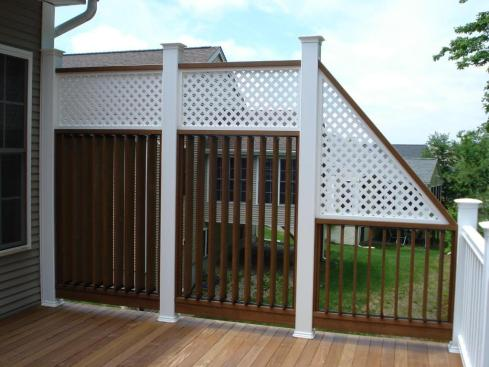 Deck Rails With Privacy Screen by Archadeck