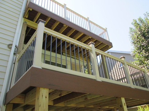 Elevated, Two Story Deck Designed For Safety and Style, by Archadeck, St. Louis Mo