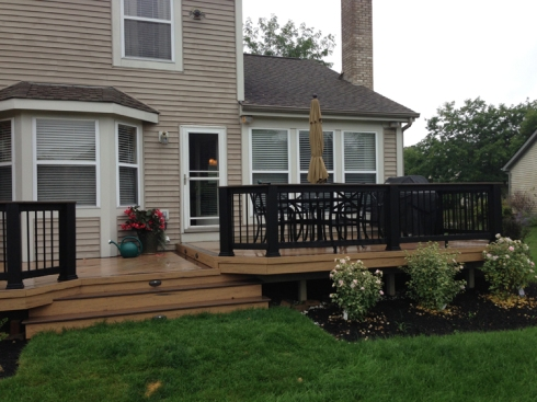 Low Grade Deck with Landscaping, by Archadeck