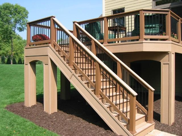 Deck post cover and cap ideas how to choose the best post for Two story deck design pictures