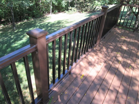 TimberTech Low Maintenance Decking with Color Coordinating Rails and Balusters, St. Louis Mo, by Archadeck of West County