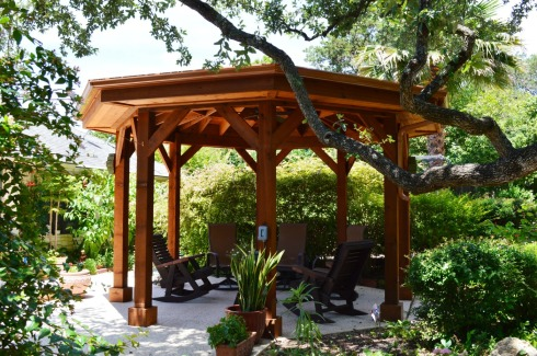 Cedar Shade Structure Over A Patio, by Archadeck