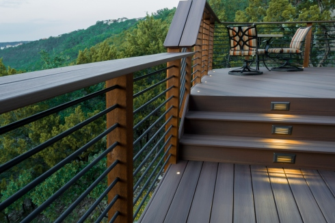 Deck with Lighting by Archadeck