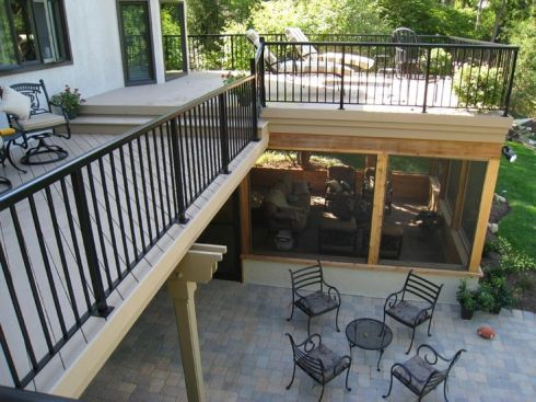 Elevated Deck with Under Deck Screen Porch by Archadeck