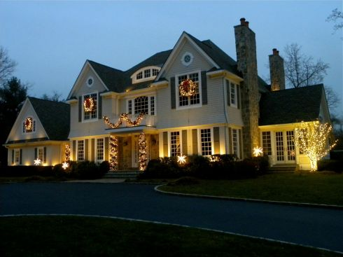 Garland, Wreaths, Lights for Holiday Decorations, photo by Outdoor Living Brands