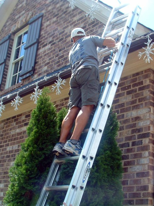 Holiday Installer For Lighting, photo courtesy of Outdoor Lighting Perspectives