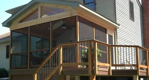 Screened Porch with Grilling Deck by Archadeck
