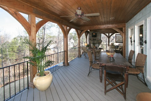 Covered Deck by Archadeck, includes Ceiling Fan, Lighting, and Outdoor TV