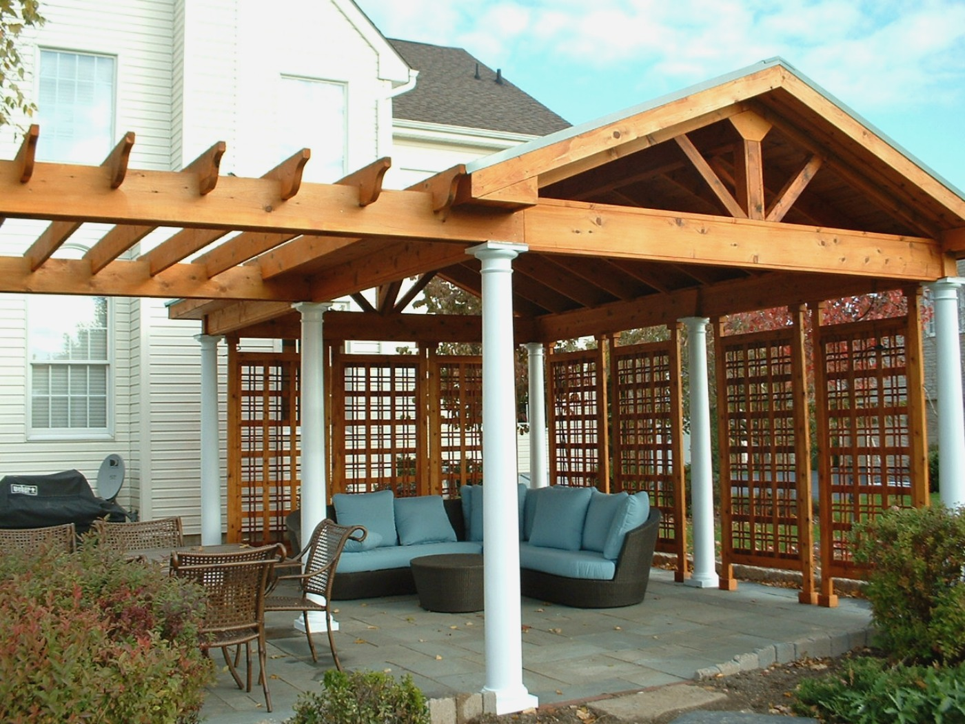 How to cover your deck patio or porch for any price by archadeck st louis decks screened - Pergola with roof ...