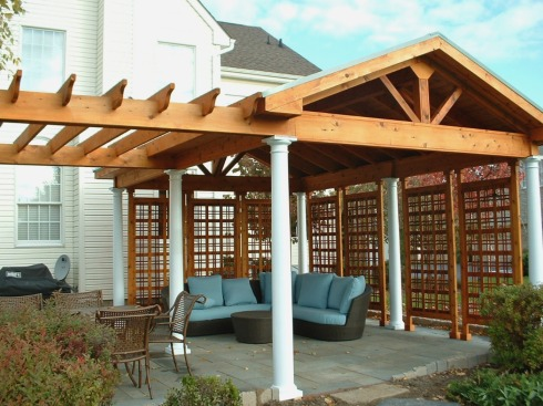 Covered Patio by Archadeck -- Pergola and Roof Structure