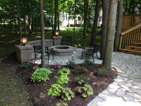Deck and Patio Shaded with Landscaping, by Archadeck
