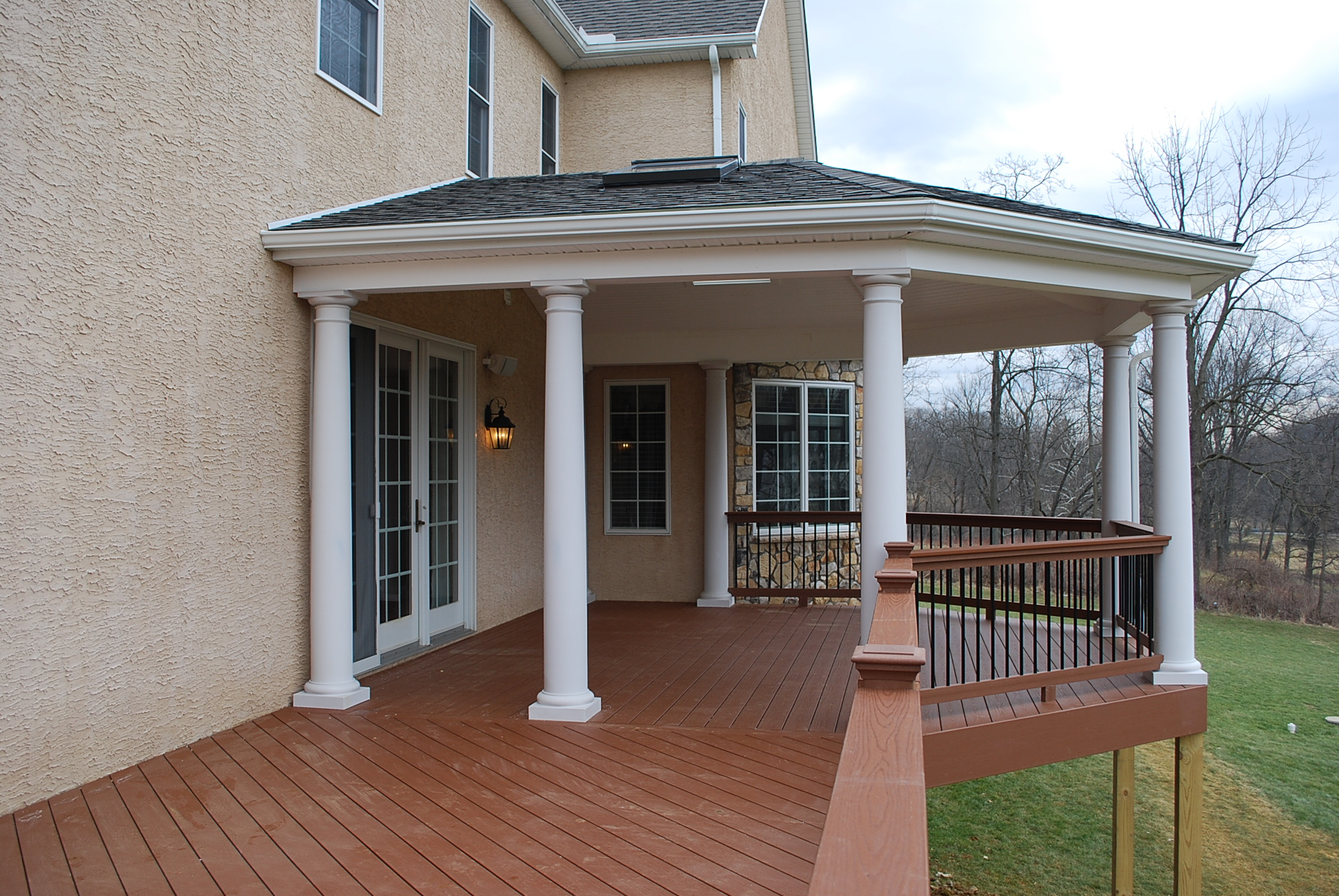 How to cover your deck patio or porch for any price by for Porch roof plans