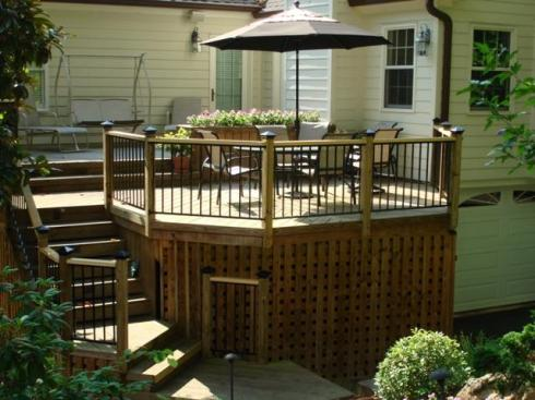 Deck with Enclosed Under Deck Storage by Archadeck
