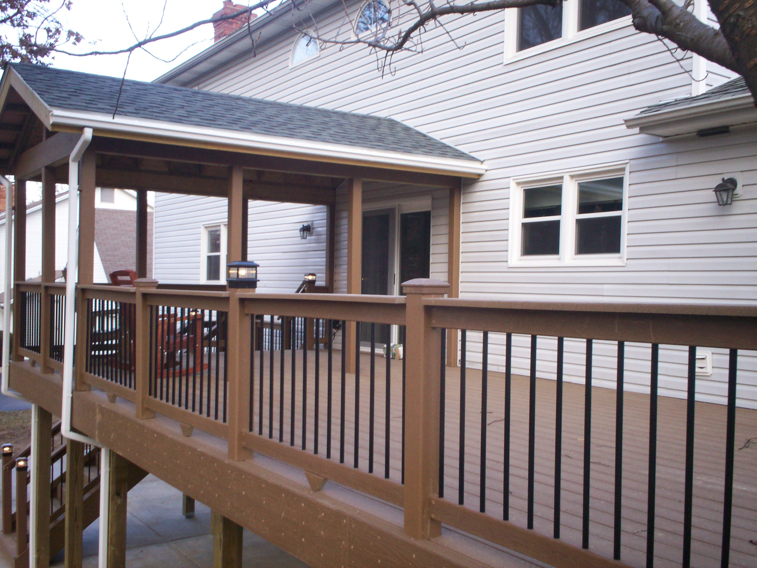 How to cover your deck patio or porch for any price by for Deck roof plans