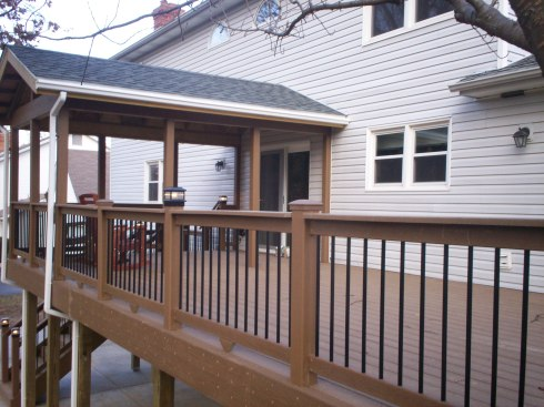 Deck with Gable Roof, St. Louis Mo, by Archadeck