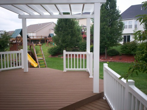 Deck with Partial Pergola, St. Louis Mo, by Archadeck