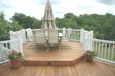 Deck with Raised Dining area by Archadeck